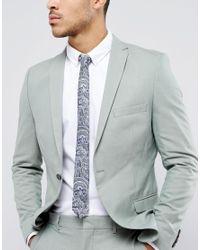 ASOS - Blue Tie In Navy Paisley for Men - Lyst