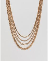 ASOS - Metallic Gold Chain Pack In Shorter Length for Men - Lyst