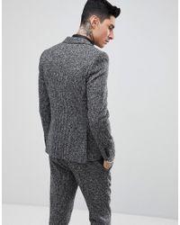 Heart & Dagger - Gray Veste de costume slim tisse en Angleterre for Men - Lyst