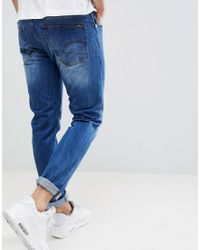 G-Star RAW - Blue 3301 Slim Fit Jeans for Men - Lyst