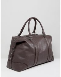 New Look - Holdall With Detachable Strap In Dark Brown for Men - Lyst