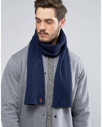 Original Penguin - Gray Twisted Yarn Scarf for Men - Lyst