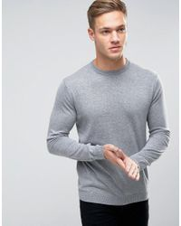 Only & Sons - Gray Fine Knit Sweater for Men - Lyst