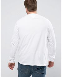 Tommy Hilfiger - Plus Long Sleeve Top Tyson Nyc Logo Print In White for Men - Lyst