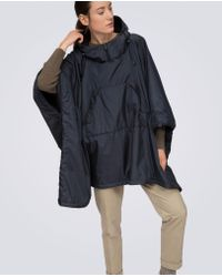 Aspesi | Blue Nylon And Fleece Cape Dublo | Lyst