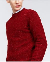Aspesi - Red Wool Sweater for Men - Lyst