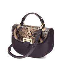 Aspinal - Brown Letterbox Saddle Bag - Lyst