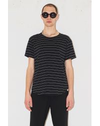Assembly New York - Black Cotton Stripe T-shirt - Lyst