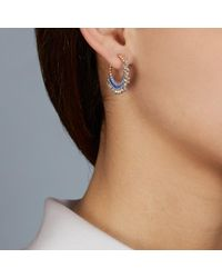 Astley Clarke | Metallic Moonlight Biography Hoop Earrings | Lyst