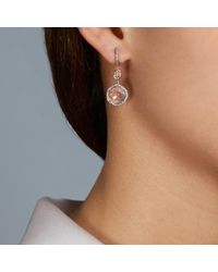 Astley Clarke - Pink Morganite Large Fao Drop Earrings - Lyst