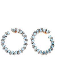Astley Clarke - Multicolor Santa Maria Aquamarine Fao Hoop Earrings - Lyst