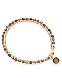Astley Clarke | Pink Prosperity Friendship Bracelet With Pyrite & Smoky Quartz | Lyst