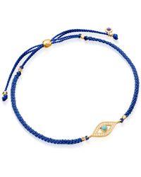 Astley Clarke | Yellow Evil Eye Woven Friendship Bracelet | Lyst