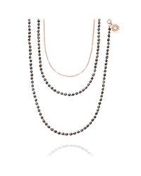 Astley Clarke | Metallic Hematite Sun Biography Necklace | Lyst