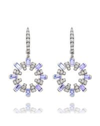 Astley Clarke | Blue Small Starburst Drop Earrings | Lyst