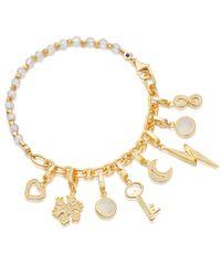 Astley Clarke - Metallic Moonstone Charm Biography Bracelet - Lyst