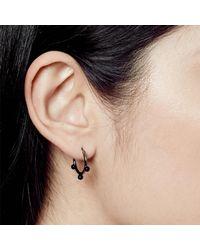 Astley Clarke - Black Onyx Hazel Hoop Earrings - Lyst