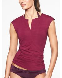 Athleta - Red Pacifica Wrap Front Tank - Lyst