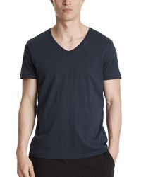 ATM - Blue Classic Jersey V-neck Tee for Men - Lyst
