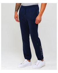 BOSS - Blue Water Repellent Hl-tech Sweatpants for Men - Lyst