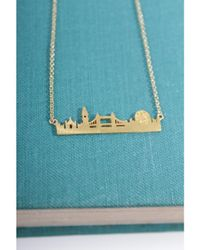 Atterley - Metallic Gold London Skyline Necklace - Lyst