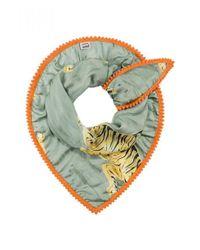POM Amsterdam - Indian Tiger Green Scarf - Lyst