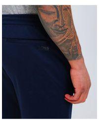 BOSS - Blue Water Repellent Hl-tech Sweatpants for Men - Lyst