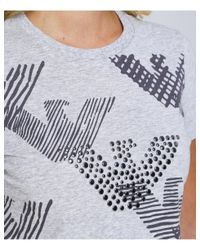 Armani - Gray Bird Logo T-shirt - Lyst