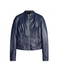 Belstaff - Blue Ladies Mollison Leather Jacket - Lyst