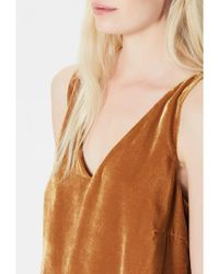 SELECTED - Brown Amita Velvet Strap Top - Lyst