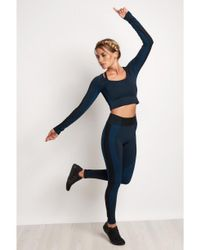 Under Armour - Blue Misty Seamless Long Sleeve Crop Top - Lyst