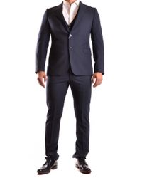 Armani - Blue Suit for Men - Lyst