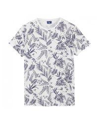 Gant - Blue Leaf Print T-shirt for Men - Lyst