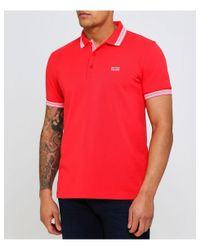 BOSS - Red Regular Fit Paddy Polo Shirt for Men - Lyst