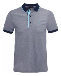 BOSS - Blue Slim Fit Paule 4 Polo Shirt for Men - Lyst