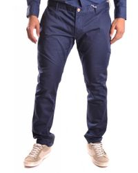 AT.P.CO - Blue Trousers for Men - Lyst