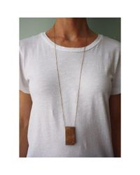 Spectrum | Gray Wood Rectangle Necklace | Lyst