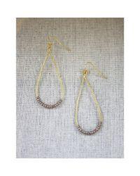 Spectrum | Metallic Beaded Teardrop Earrings | Lyst