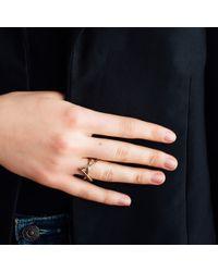 AUrate New York - Metallic Icon Ring Yellow Gold With Black Diamonds - Lyst