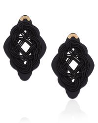 Anna E Alex | Black Passementerie Regina Stud Earrings | Lyst