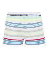 lemlem | Blue Aqua Stripe Cotton Hayat Shorts | Lyst