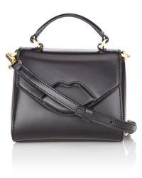 Lulu Guinness | Black Leather Mini Izzy Bag | Lyst
