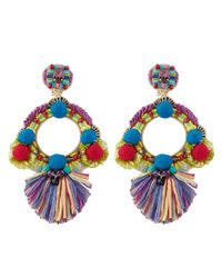 Ranjana Khan | Multicolor Multi Round Embellished Clip-on Earrings | Lyst