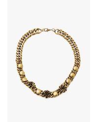 Nicole Romano - Metallic Button Stud Chain Necklace - Lyst