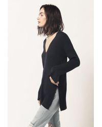 Azalea - Green V-neck L/s Sweater - Lyst