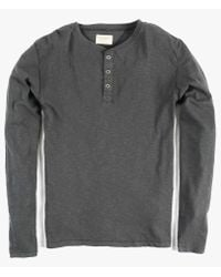 Nudie Jeans | Gray Ls Henley for Men | Lyst