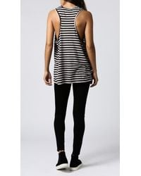 Cheap Monday - Gray Flow Stripe Tank - Lyst