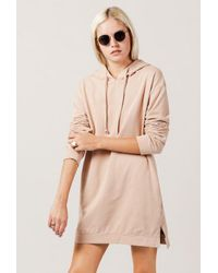 Azalea - Pink Sweater Hoodie Dress - Lyst