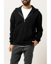 John Elliott - Black Mercer Half Zip Hoodie for Men - Lyst