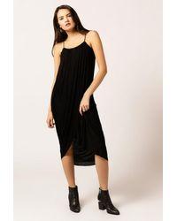 Azalea - Gray Hi Low Strappy Cami Slit Dress - Lyst